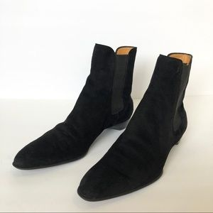 Tod's Black Suede Chelsea Ankle Boots Size 9